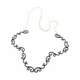 Swirl Necklace with Graduated Pearls