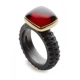 Cushion Garnet Ring