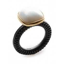 Cushion Pearl Ring