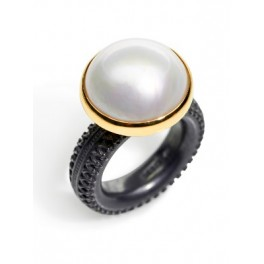 Large Round Pearl Ring