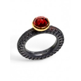 Rose-cut Garnet Ring (8mm)