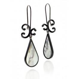 Swirl Drop Mother of Pearl Earrings