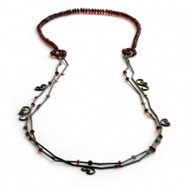 Garnet Swirl Necklace